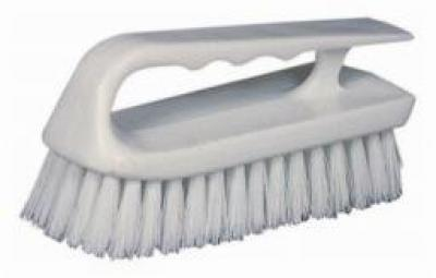 Scrub Brush/curved plastic handle