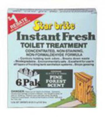 Instant resh Toilet Chemical 6 pack Pine